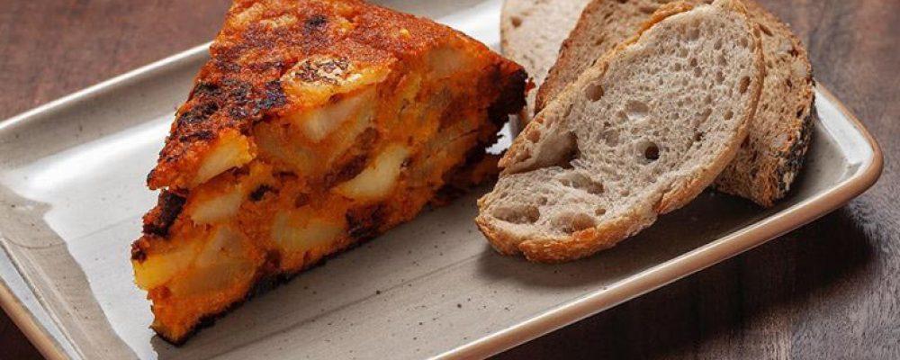 Tortilla de patata vegana en Madrid
